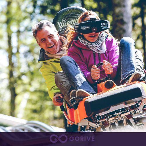 descente en luge VR chez les carroz