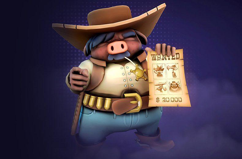Sheriff avec une affiche